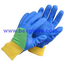 Хлопковая блокировочная вставка, нитрильное покрытие, защитные перчатки