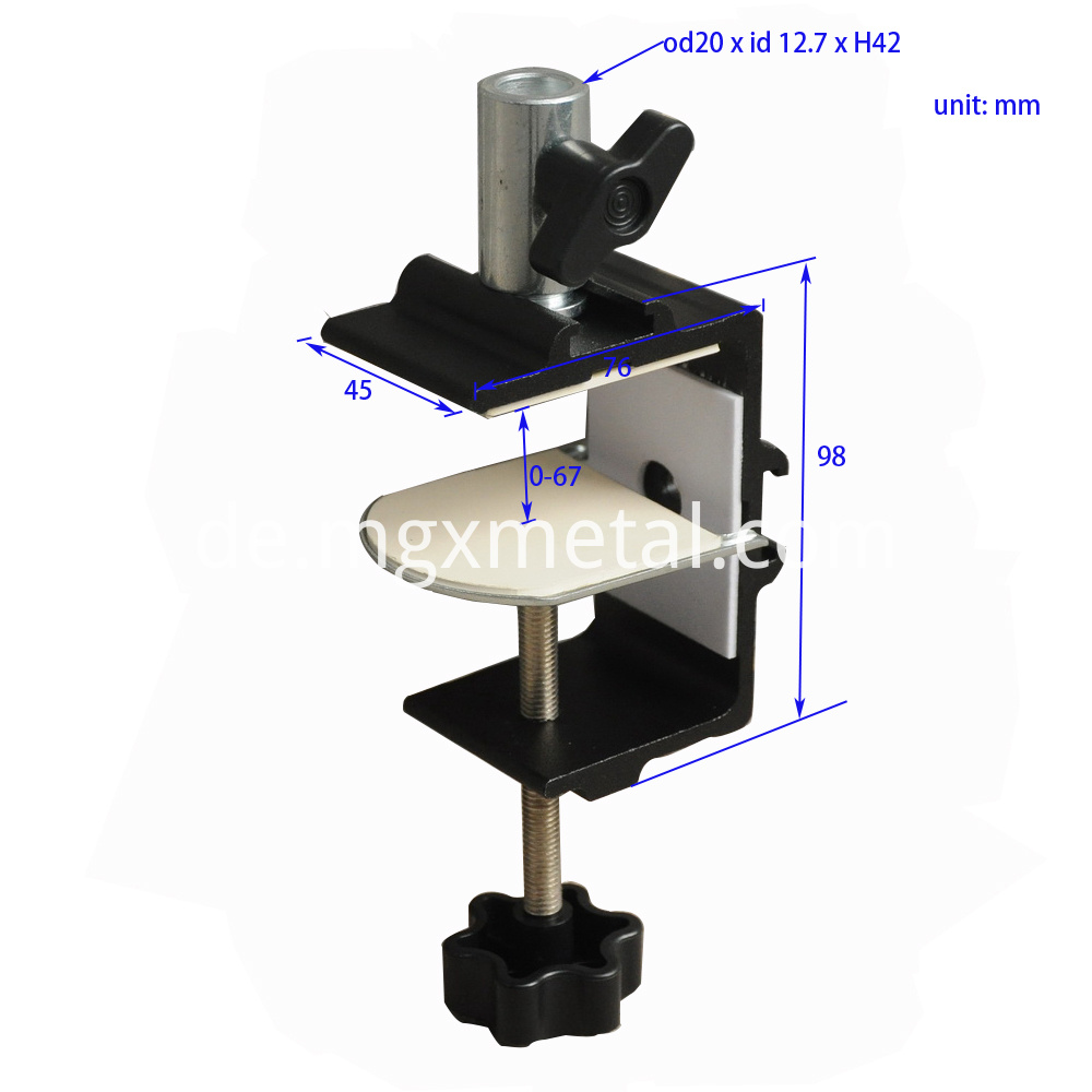 RTC0009 Aluminum Tablet Holder Clamp For Bed Size