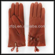 Roter Fransen mordern Damen Leder Handschuh