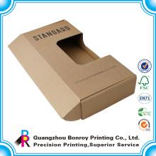 Напечатанный рециркулированный складной крафт-бумага коробка для подарок и упаковка