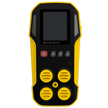 استخدام التعدين Portable diffussion type 4 gases multi gas detector CO O2 H2S CH4 LEL