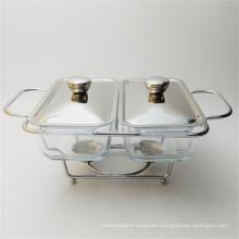 Calentador usado aislado acero inoxidable barato de la comida del restaurante del plato de Chaffing