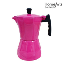 Rose Red Aluminium Stove Top Cafetera