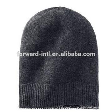 chapeau de cachemire tricoté d'hiver de haute qualité