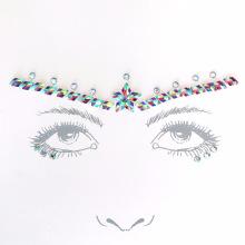 Self Adhesive Custom Cheap Art Jewelry Gem Face Crystal Sticker