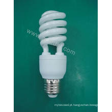 Lâmpada de poupança de energia de meia espiral