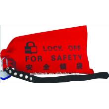 Segurança Bloqueio do controlador do guindaste e sacola de descarte para cavilhas de junção e controladores de elevador