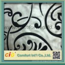 Fabrik Preis weichem Polyester Beflockung Stoff für Polsterung Vorhang