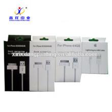 Emballage en gros d'usine d'usine de boîtes de papier d'emballage de fils d'USB, ISO9001: 2008