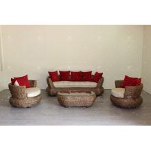 Great Design Natural Water Hyacinth Sofa Set for Indoor Furniture