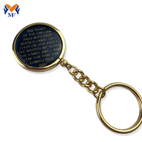 Inserte el metal aa diy coin keychain holder