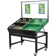 Supermarket Steel Vegetable and Fruit Display Rack
