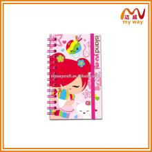 Venda quente personalizada pink lovely girl a5 notebook atacado