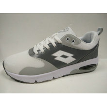 Women Leisure Wide Insole White Grey Running Shoes