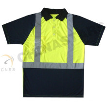Camisa de polo de alta visibilidad, camiseta de seguridad, polo de trabajo de seguridad