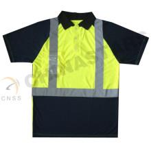 Wicking olá polo do vis, t-shirt da segurança, camisa polo do trabalho da segurança