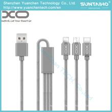 3 em 1 cabo de dados de carregamento de USB para a tabuleta / andróide / iPhone6