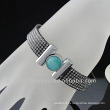 Nueva pulsera elástica de los estilos pavimenta la pulsera cristalina completa del Rhinestone