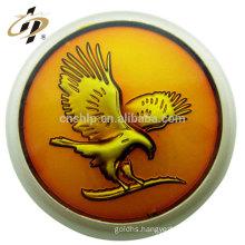 Antique bronze zinc alloy embossed 3D eagle logo custom lapel pin