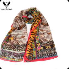 Модный женский шелковый шарф и шерстяной шарф