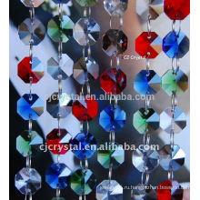 Смешанные цветы стеклянные шарики Octagon продают оптом, кристаллические шарики восьмиугольника