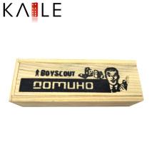 Mini Holz Elfenbein Domino mit schwarzen Punkten Großhandel