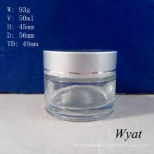 50ml Glass Cream Jar Glass Skincare Cosmetic Jar Wholesale