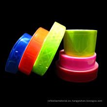Material reflectante de seguridad para la ropa con cinta de PVC no adhesiva