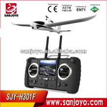 adultos rc aviones H301F 2.4G 4CH sky hawk rc aeroplano 4 Canal FPV Transmisor Spy Video Crashproof