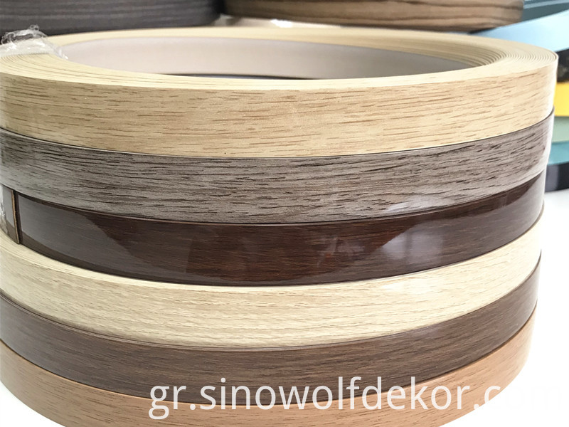 High gloss woodgrain edge banding