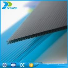 Factory high-ranking plastic lexan decorative polycarbonate panels blue tint honeycomb sheet