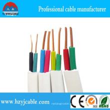 Cable plano BVVB 2cm 1.5mm 2.5mm de cobre puro alambre eléctrico al aire libre impermeable