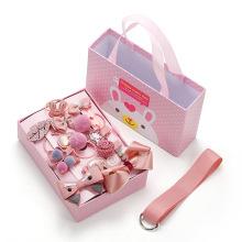 Shangjie OEM joyas 18pcs Different Cute Hair Accessories Hairpins Set Pink Purple Multi Style Kids Hairpins for Girls
