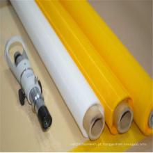 Tela de malha amarela da impressão da tela do poliéster para a matéria têxtil
