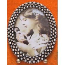 Ovaler Perle 4 x 6 Zoll Alloy Fotorahmen