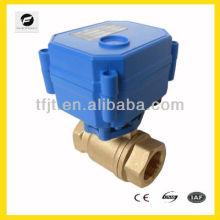 Válvula de bola motorizada eléctrica de 2 vías que modula o enciende / apaga el tipo 1 '' a 4 ''