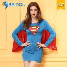 Femme Robe de fantaisie Infirmière japonaise Costume sexy d'Halloween Superman