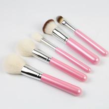 Escova de maquiagem rosa menina pérola