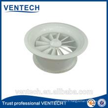 Round swirl diffuser, adjustable air diffuser