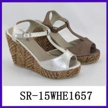 Zapatos baratos de la plataforma de la plataforma del verano de las mujeres del zapato de la plataforma de la correa de la manera T