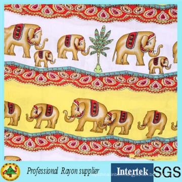Hot Sale Elephant Printed Rayon Fabric From Textile Factory