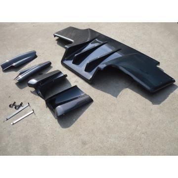Spoiler traseiro de plástico reforçado com fibra de carbono