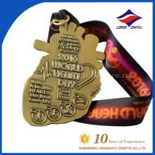 2016 Médaille personnalisée et à la mode de médaille du monde de la santé cardiovasculaire