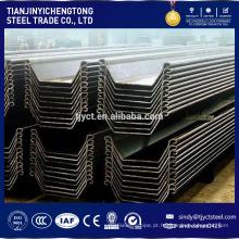 Estacas de chapa de aço secundária 600x130x10.3x61.8kgs / m