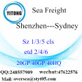 Shenzhen Port Sea Freight Shipping à Sydney