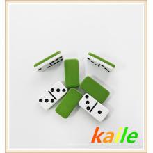 Doppel 6 Doppeldecker grüne Plastik Domino