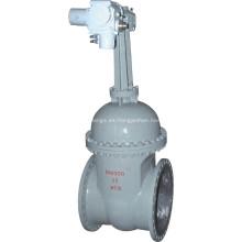 Válvula de compuerta de acero al carbono de gran diámetro