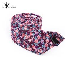 Mode benutzerdefinierte Paisley Floral Skinny Baumwolle Krawatten für Männer