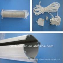 Aluminium curtain track,control unit with plastic curtain chain,tape roll for roman blind,roman shade accessory