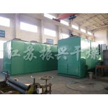 Secador de cinturón de una sola capa de aire caliente industrial para materiales de gránulos